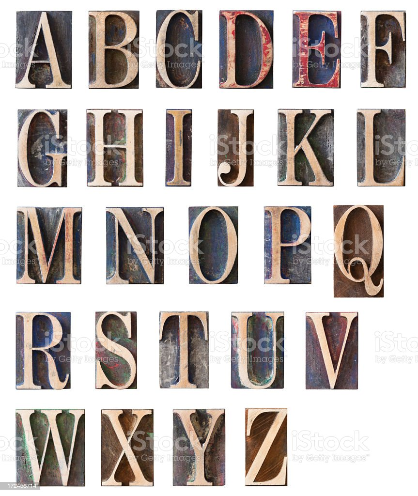 Huge Alphabet Set stock photo