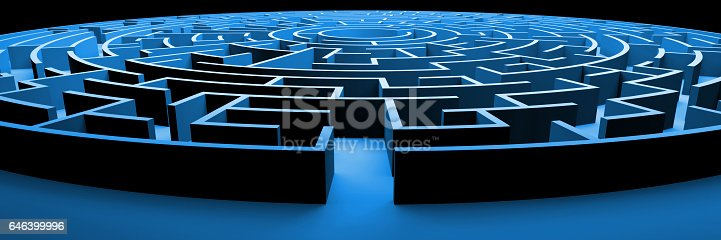 istock huge and mysterious circular maze structure 646399996