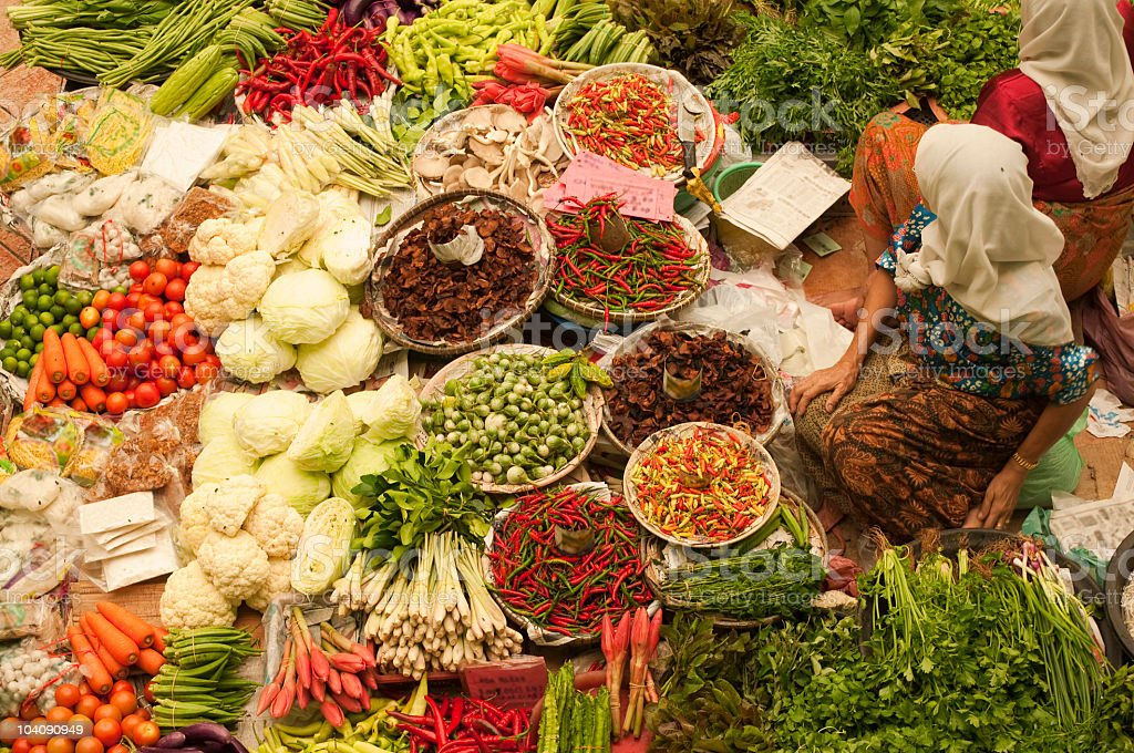 A huge assortment of vegetables at a market royalty-free stock photo