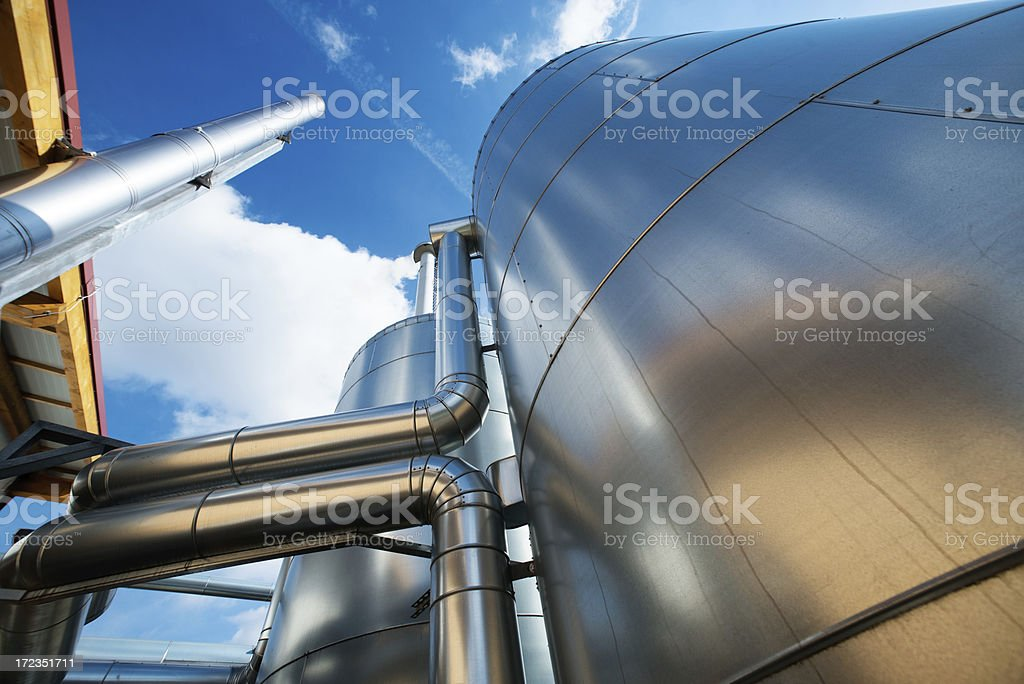 A huge biogas tank and Buffer Vessel in Energiewende,Germany stock photo