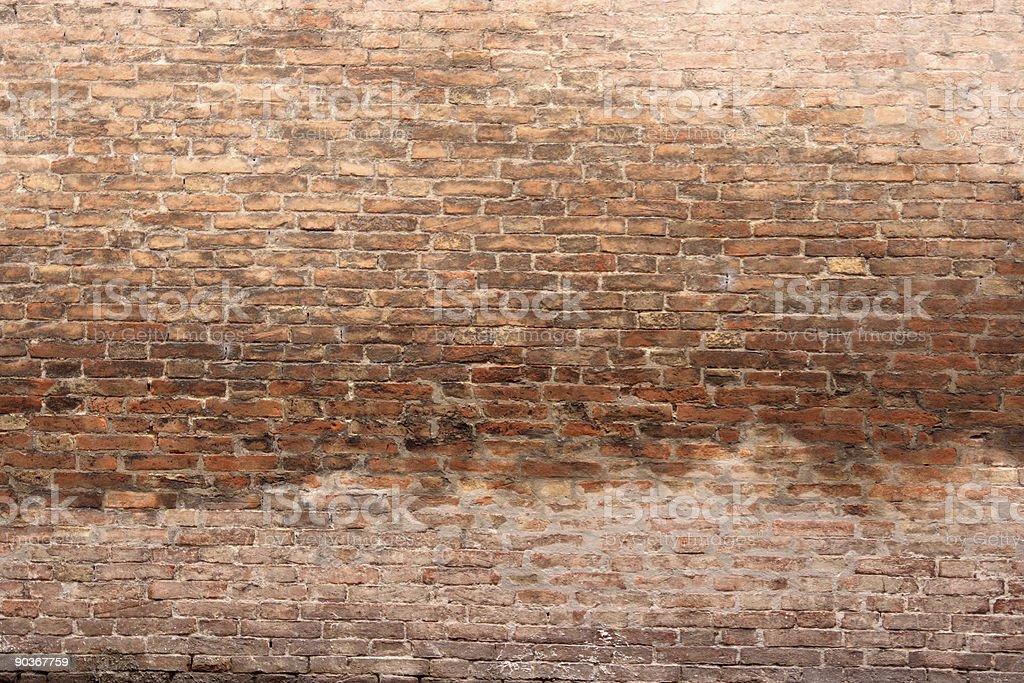 Huge brick wall royalty-free stock photo
