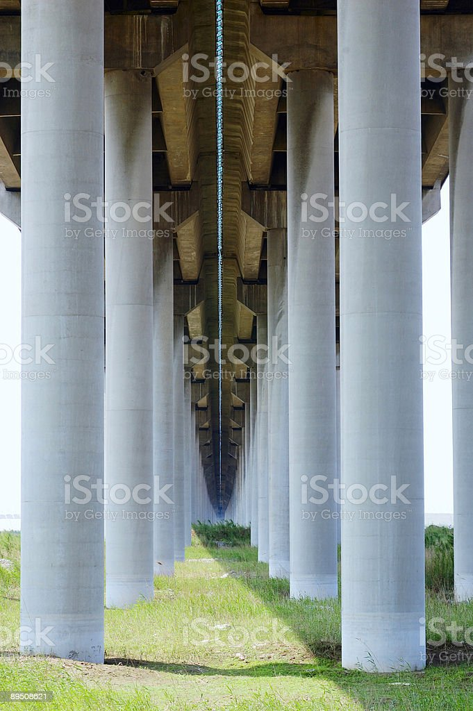 Huge bridge pier royalty-free stock photo
