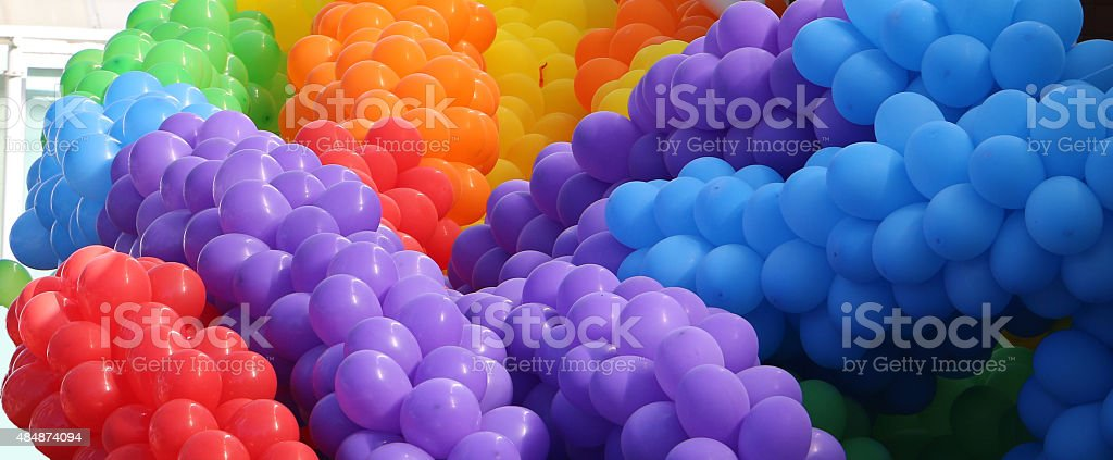 Große Haufen bunte Ballons - Lizenzfrei 2015 Stock-Foto