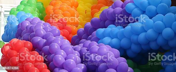 Große Haufen Bunte Ballons Stockfoto und mehr Bilder von 2015