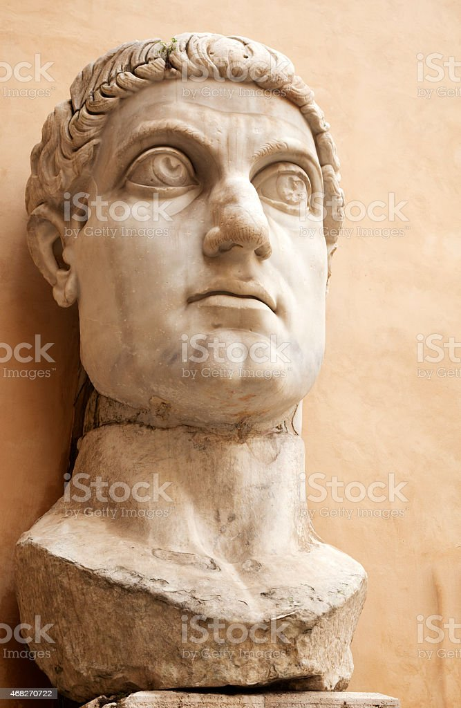 Huge Bust of Constantine Colossus stock photo