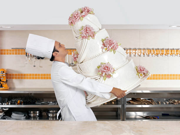 huge cake - big cake stock photos and pictures