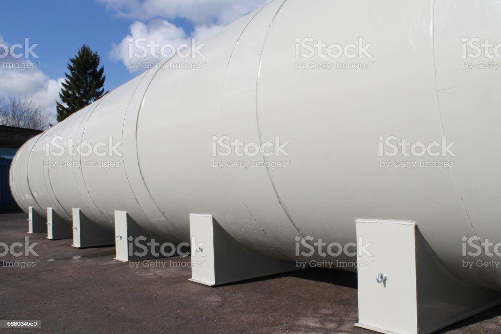 Huge capacity fuel tank stock photo