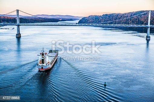 483418977istockphoto Huge cargo ship at the Hudson River 472218663