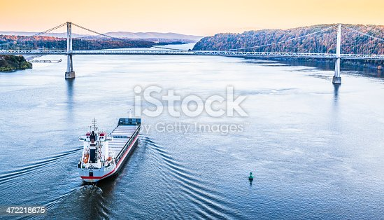 483418977istockphoto Huge cargo ship at the Hudson River 472218675