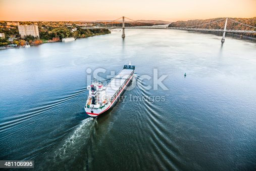 483418977istockphoto Huge cargo ship at the Hudson River 481106995