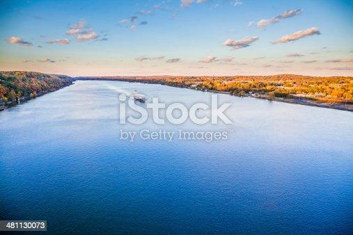 483418977istockphoto Huge cargo ship at the Hudson River 481130073