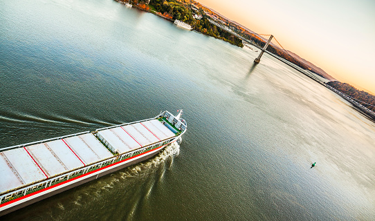 483418977 istock photo Huge cargo ship at the Hudson River 482692023