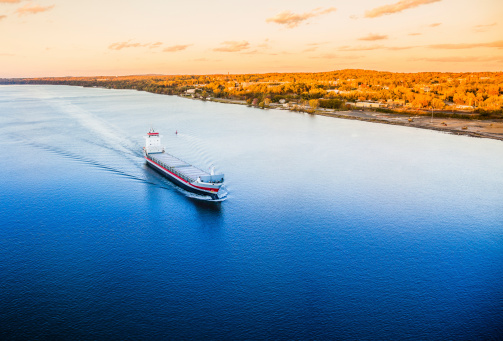 483418977 istock photo Huge cargo ship at the Hudson River 483418977