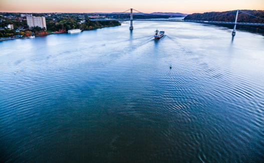 483418977 istock photo Huge cargo ship at the Hudson River 495655219