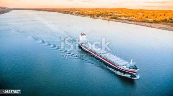 483418977istockphoto Huge cargo ship at the Hudson River 496587807