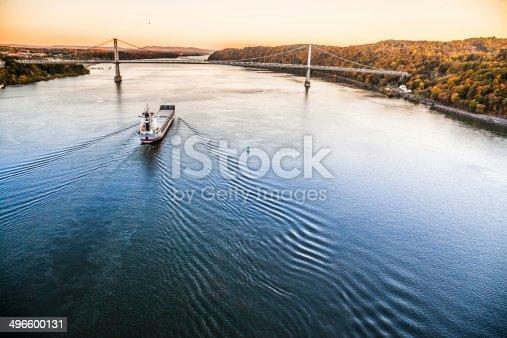 483418977istockphoto Huge cargo ship at the Hudson River 496600131