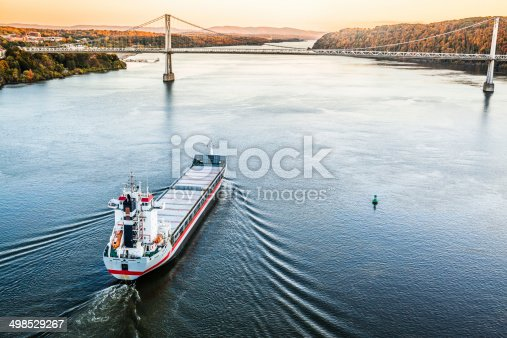 istock Huge cargo ship at the Hudson River 498529267