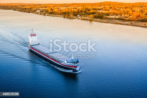 483418977istockphoto Huge cargo ship at the Hudson River 498529299