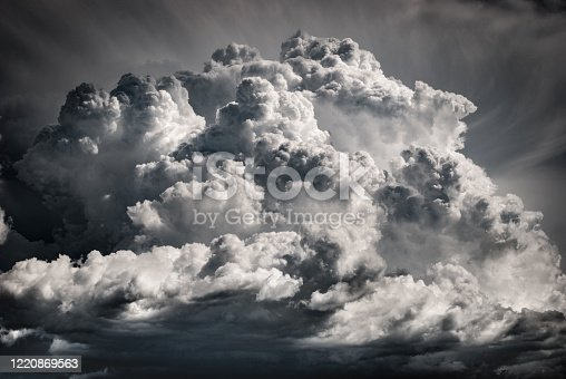 A huge cloud bringing the storm - large cumulonimbus