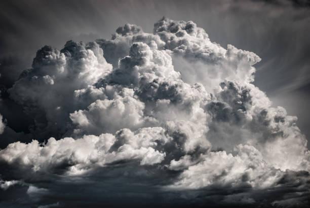 Huge cloud bringing storm stock photo