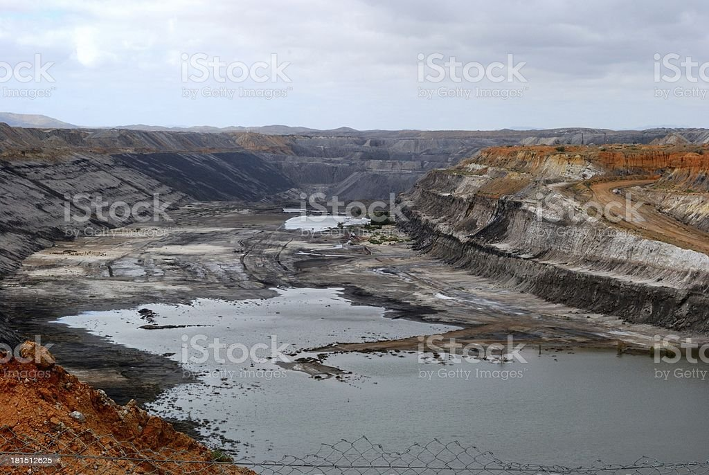 Huge coal mine in South Australia royalty-free stock photo