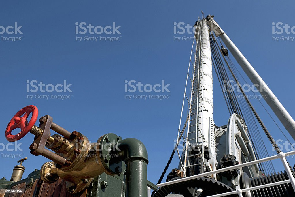 Huge Crane and Red Valve royalty-free stock photo