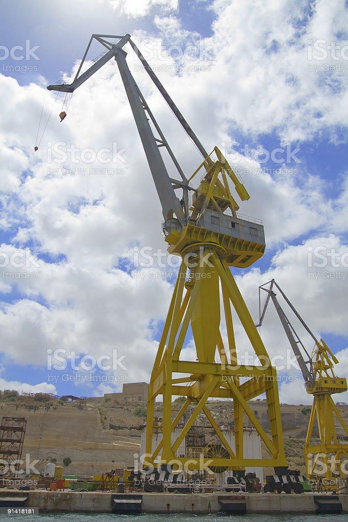 Huge Crane on a Dock stock photo