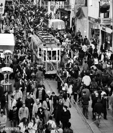 istock Huge Crowd at Istiklal Caddesi 458709793