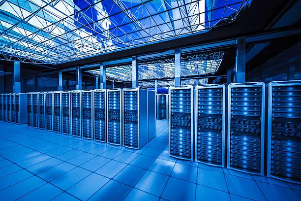 huge data center stock photo