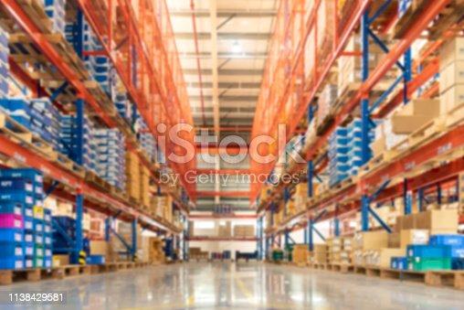 istock Huge distribution warehouse 1138429581