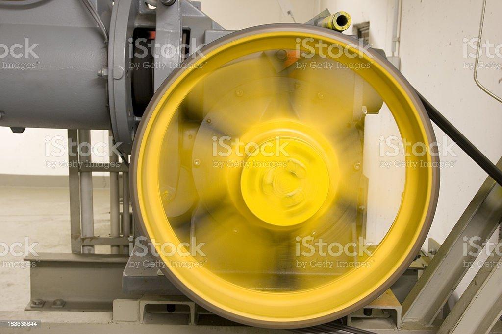 Gran Electric Motor en dirección de rotación - foto de stock