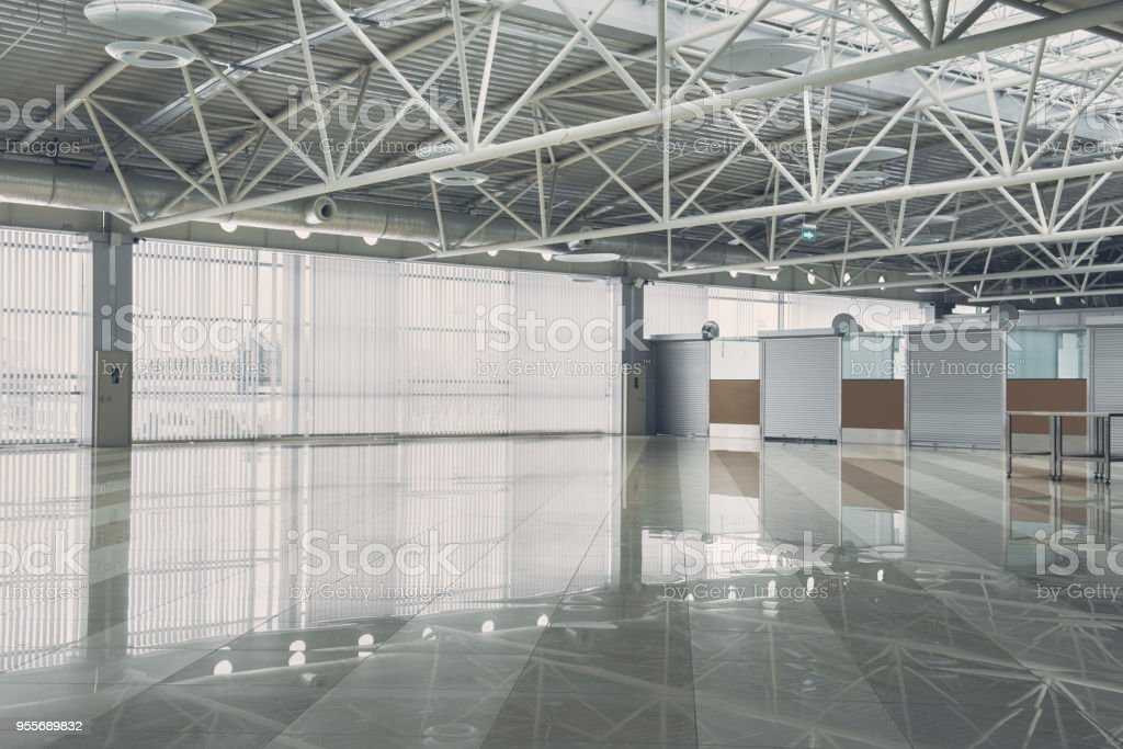 Huge empty lodgment of depot stock photo