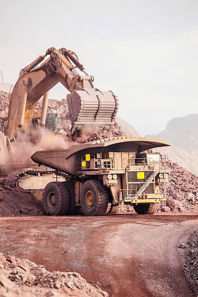Große Excavator.  Bergbau – Foto