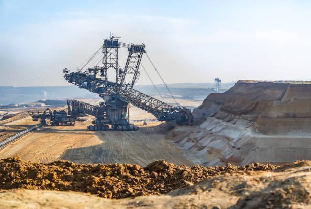 Riesige Bagger arbeiten in Coal mine – Foto