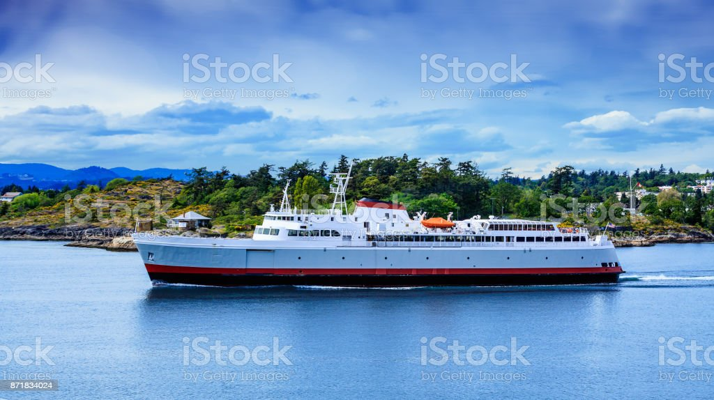 Huge Ferry Leaving Victoria stock photo