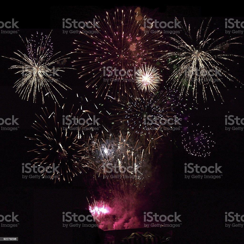 Huge Fireworks Display stock photo