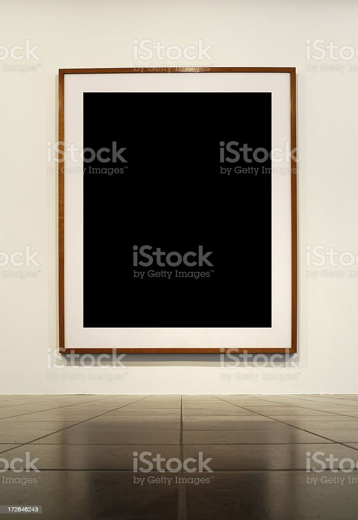 huge frame in modern loft royalty-free stock photo