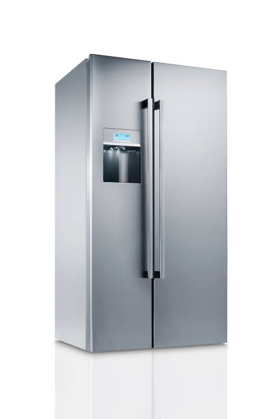 Huge fridge(clipping path) Huge fridge(clipping path) fridge stock pictures, royalty-free photos & images