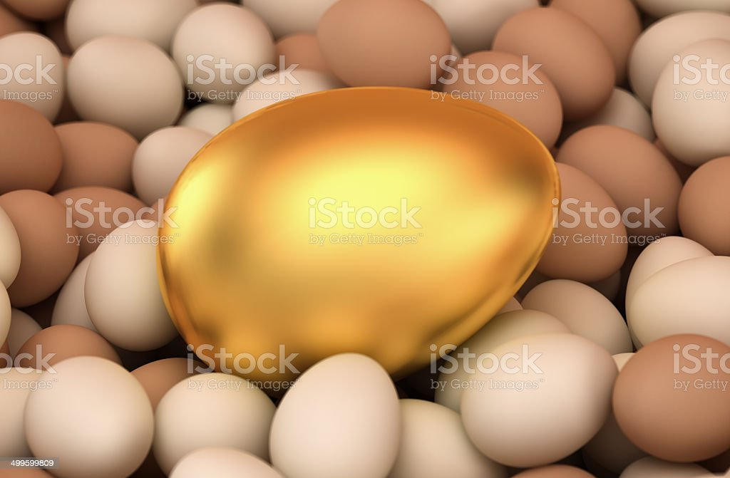 Huge golden egg stock photo