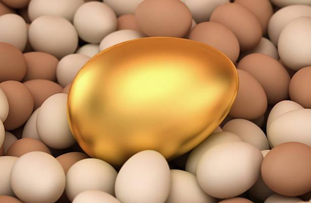 Huge golden egg stock photo