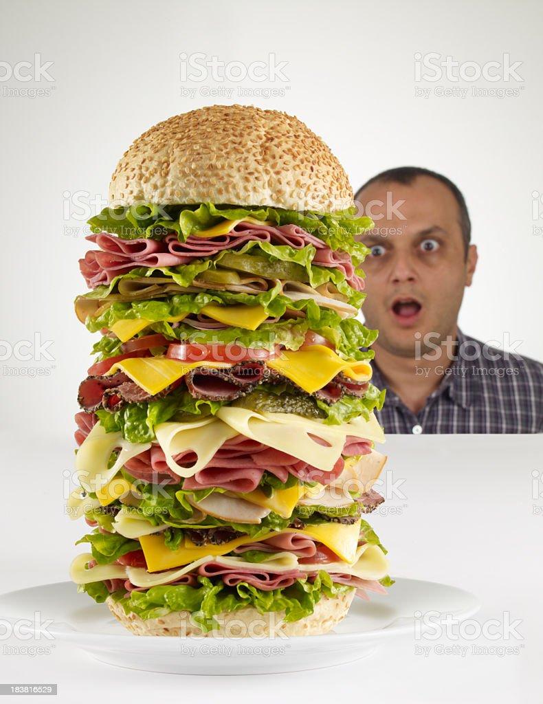 Huge Hamburger royalty-free stock photo