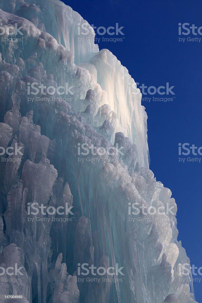 Huge ice wall royalty-free stock photo