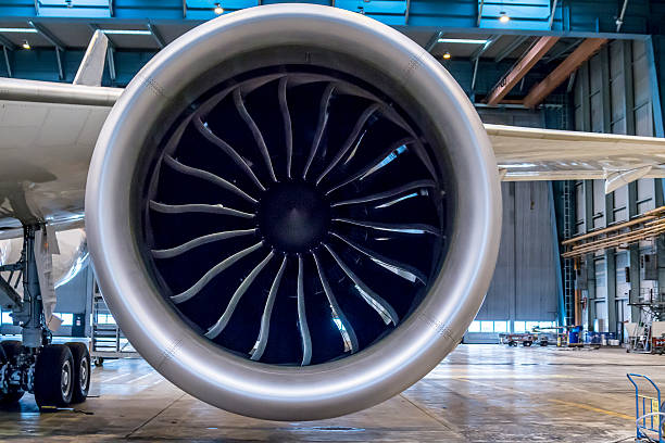 Huge jet engine stock photo