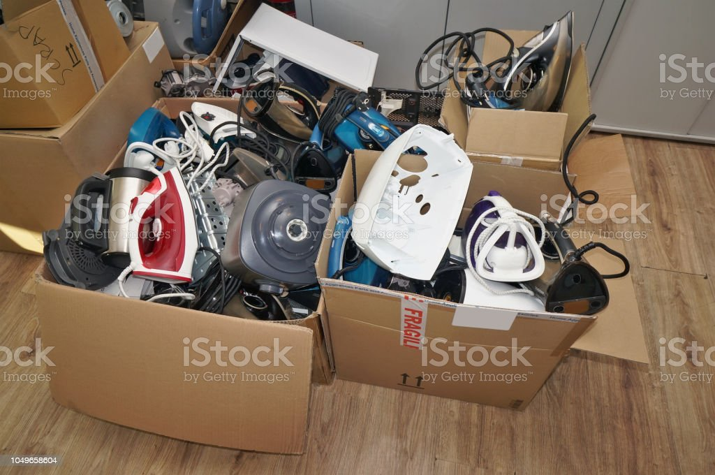 A huge lot of the old used and broken spare parts from no name mass...
