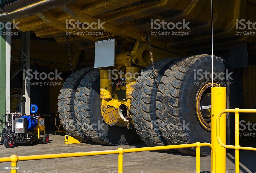 Huge Mine Truck in Workshop royalty-free stock photo