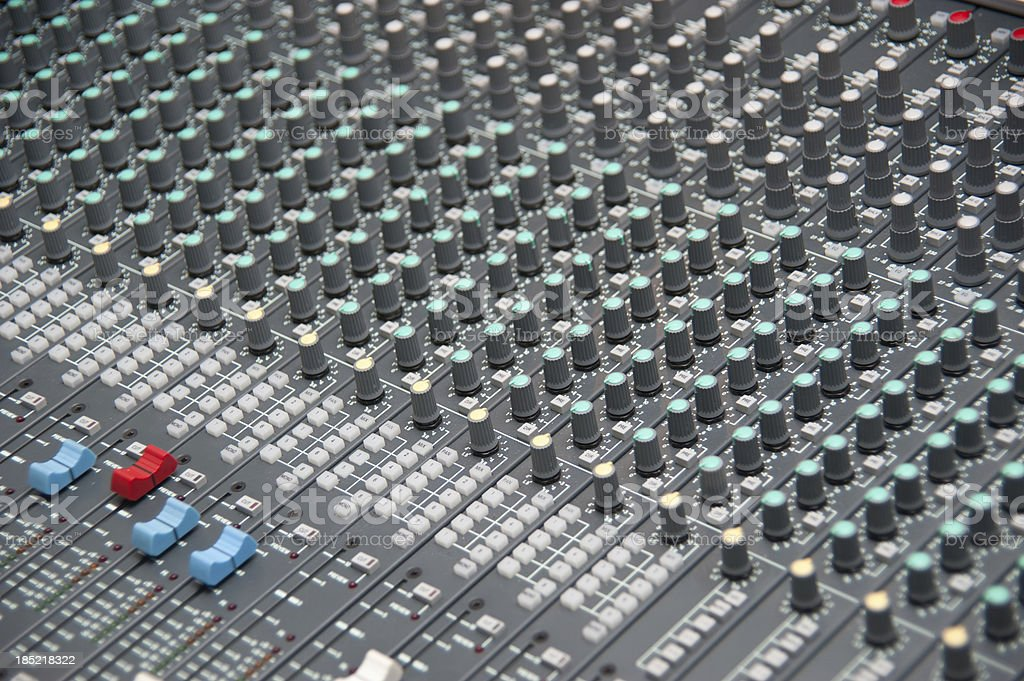 huge mixing desk - großes professionelles Mischpult royalty-free stock photo