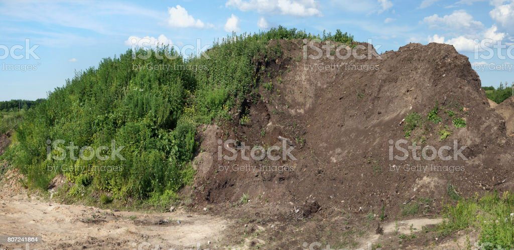 Huge Mountain Of Fertile Fat Compost The Earth Is Intended For Sale ...