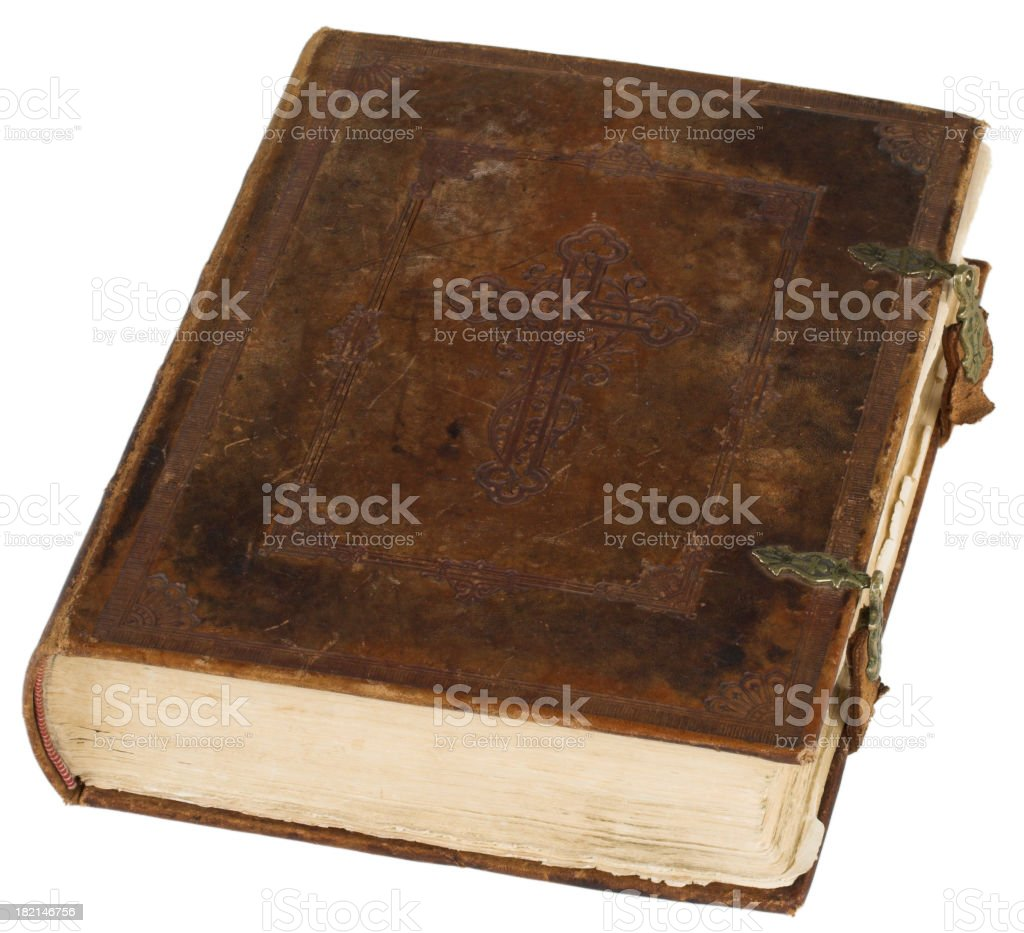 Huge old bible royalty-free stock photo