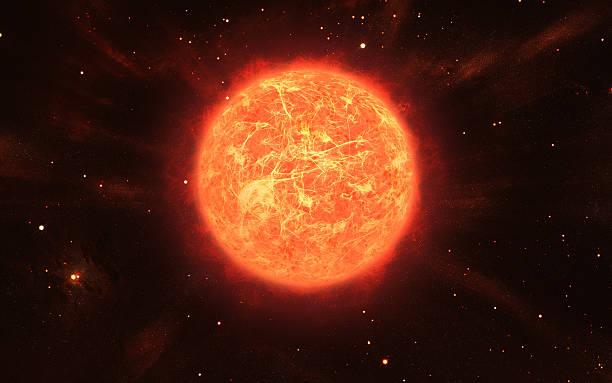 Große orange Sonne – Foto