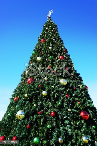 huge outdoor christmas tree stock photo more pictures of backgrounds istock - Huge Outdoor Christmas Decorations